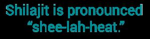 How to say shilajit - benefits of shilajit